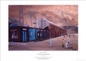 Huddersfield Town - Leeds Road - 'Final Whistle'  framed A3 Print